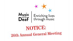 Music and the Deaf's AGM 2016